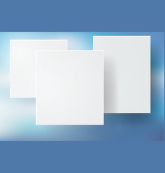 abstract blue bokeh background with white square vector image