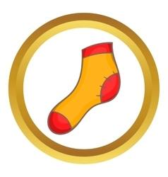 Christmas sock icon vector image