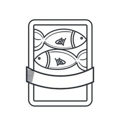 fish restaurant emblem icon vector image