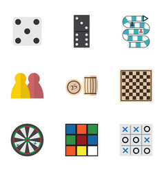 flat icon entertainment set of cube people arrow vector image vector image