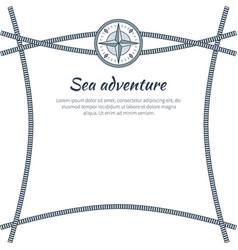 Sea adventure colorful card vector