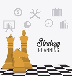 Strategy business design vector image