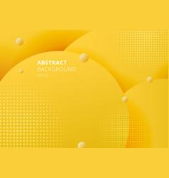 Abstract 3d liquid fluid circles yellow mustard vector