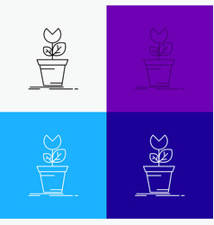 Adventure game mario obstacle plant icon over vector