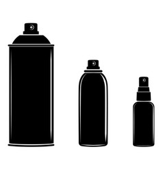 Aerosol spray can cosmetic bottle set vector