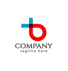 b company logo letter template design vector image