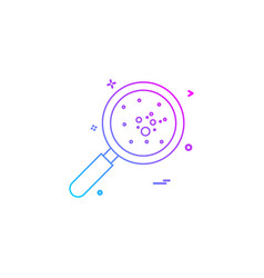 bacteria icon design vector image