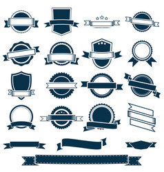 banner ribbons labels and emblems vector image