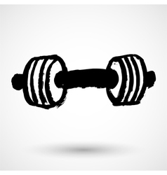 Barbell - Grunge Icon vector image
