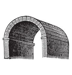 Barrel vault wagon vintage engraving vector
