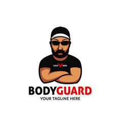 Basic rgbstrong big bodyguard logo mascot vector