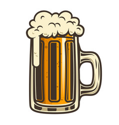 beer mug design element for logo label emblem vector image
