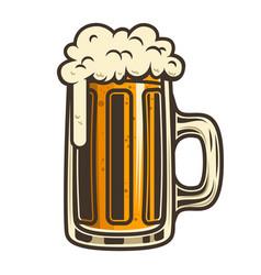 beer mug design element for logo label emblem vector image