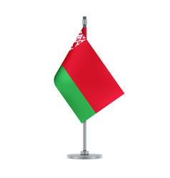 belarus flag hanging on the metallic pole vector image