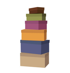 Big pile of wrapped gift boxes decorated vector