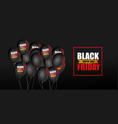 black friday super sale with balloons background vector image
