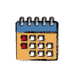 calendar icon imag vector image