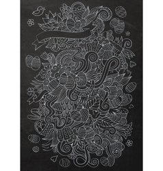 Cartoon chalkboard doodles on the subject of vector image