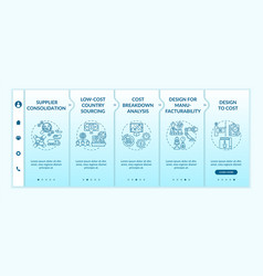 Cost reduction strategies onboarding template vector