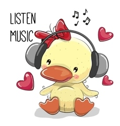 Cute cartoon Duckling Girl vector