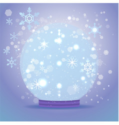 cute cartoon snow globe vector image