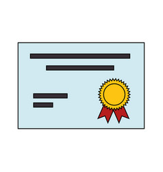 diploma education certification vector image vector image
