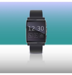 Electronic watch computer interface vector image vector image