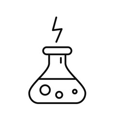 energy potion icon outline style vector image