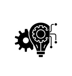 engineering system black icon sign on vector image