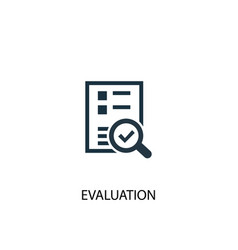 evaluation icon simple element vector image