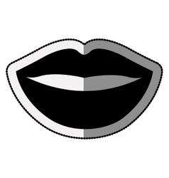 Female mouth cartoon design vector image