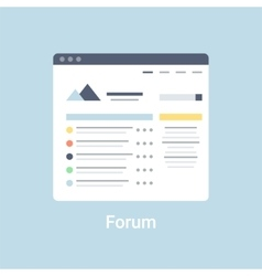 Forum Wireframe vector image
