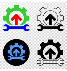 forward gear repair eps icon with contour vector image
