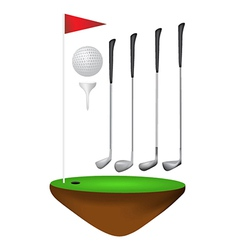 Golf elements vector