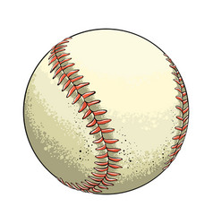 hand drawn sketch baseball ball in color isolated vector image