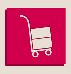 hand truck sign grayscale version of vector image