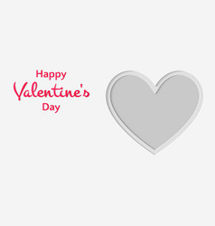 happy valentines day cut paper style heart symbol vector image