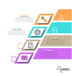 infographic design layout with 4 lettered vector image
