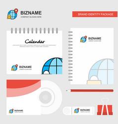 internet logo calendar template cd cover diary vector image