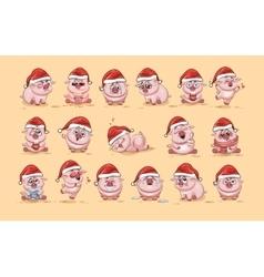 Isolated Emoji character cartoon Pig vector