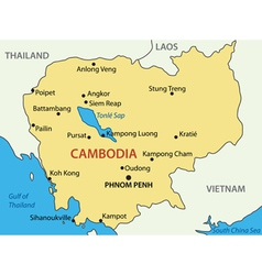Kingdom of Cambodia - map vector