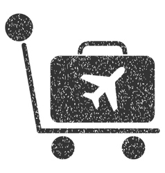 Luggage Trolley Icon Rubber Stamp vector