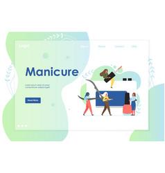 Manicure website landing page design vector