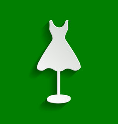 mannequin with dress sign paper whitish vector image
