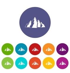 Mountain set icons vector