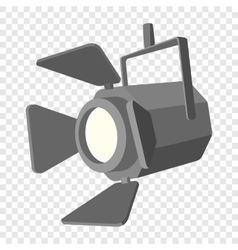 Movie spotlight cartoon icon vector image