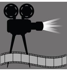 Old movie projector vector