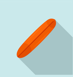 Orange surfboard icon flat style vector