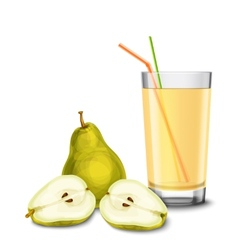 Pear juice glass vector image