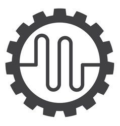 Pipe service cog flat icon symbol vector